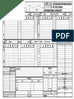 Scoresheet 3 Set(3)