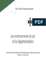 Les Renforcements de Sol Et La Règlementation Karim BOUDERSA (2014)
