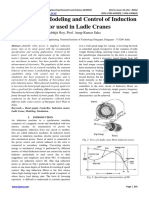 Bond Graph Modeling and Control of Induction Motor Used in Ladle Cranes