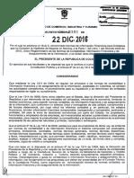 Decreto 2101 Del 22 de Diciembre de 2016