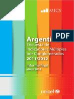 Argentina 2011-12 MICS_Spanish