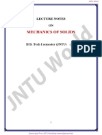 Mechanics of Solids Notes