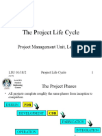 Lecture 2 - Life Cycle
