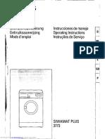 Manual Masina de Spalat Siwamat plus 3773