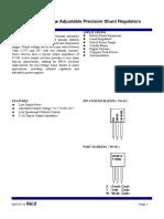 Sp431 High Voltage Adjustable Precision Shunt Regulators