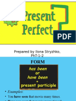 Present Perfect. English Grammar