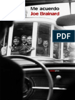 Me Acuerdo - Joe Brainard