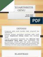 Ppt Osteoarthritis Genu