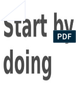 Start by Doing What