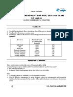 Income Tax Amendment for Nov Dec 2016 Exam