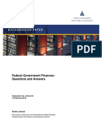 Federal Government Finances - Questions and Answers