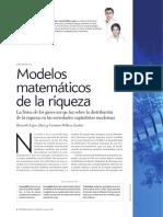 ECONOFÍSICA Modelos matemáticos de la riqueza