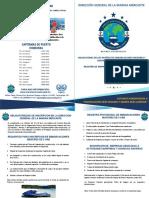 Brochure de Obligaciones de Los Dueños de Embarcaciones