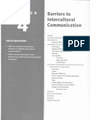 Chapter 4 Barriers to Intercultural Communication | Deng
