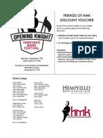 2016 Friends of HMK Discount Voucher