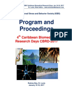 Program and Proceedings - 4th Caribbean Biomedical Research Days CBRD-2017, Jan 16-18, 2017, Rodney Bay, St. Lucia