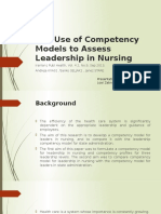 The Use of Competency Models to Assess Leadership