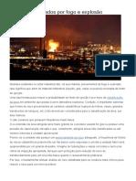 Acidentes Causados Por Fogo e Explosão