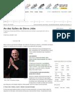 As Dez Lições de Steve Jobs