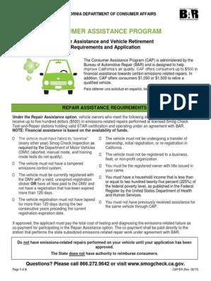 Vehicle Retirement Program >> Cap Eligibility Requirements Final Department Of Motor
