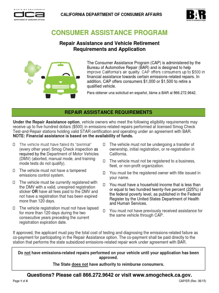 Vehicle Retirement Program >> Cap Eligibility Requirements Final Department Of Motor Vehicles