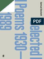Beckett, Samuel - Selected Poems 1930-1989 (2012, Faber & Faber, 9780571261963)