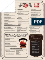 Kage Food Menu PDF