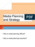 Media Strategy and Planning