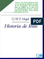 Georg Wilhelm Friedrich Hegel - Historia de Jesus