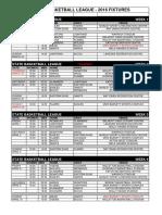 2016 Fixtures