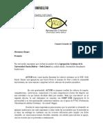 Modelo carta de Petición