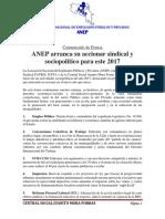 ANEP Arranca Su Accionar Sindical y Sociopolítico Para Este 2017