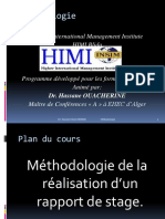meThodologie Du Rapport de Stages