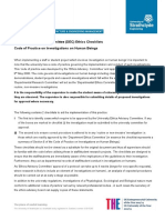 DMEM Ethics Checklist