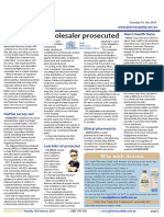 Pharmacy Daily for Tue 03 Jan 2017 - Wholesaler prosecuted, Ley's $12k plane fare, 'Health Hub' a finalist, Guild Update and much more