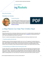 11 ways parents can help their children read   reading rockets