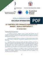 Le Controle Des Finances Publiques Au Maroc