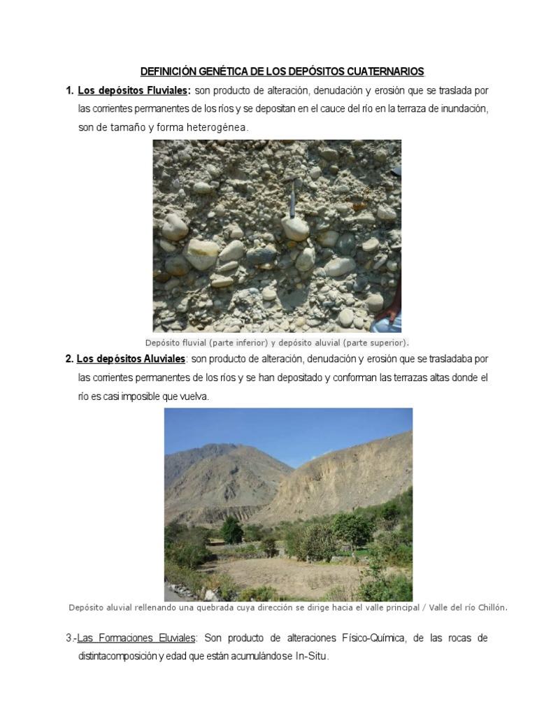 157632441 Definicion Genetica De Los Depositos Cuaternarios Docx