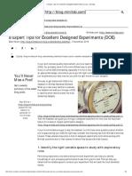 8 Expert Tips for Excellent Designed Experiments (DOE) _ Minitab