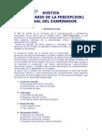 Test Kostick(Manual)