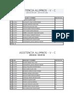 Asistencia Alumnos Aula 3 y 4 Pnp