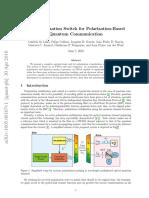 Fast Polarization Switch for Polarization-Based Quantum Communication
