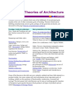Thematic Theories of Architecture