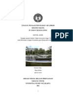 Tinjauan Instalasi Pengolahan Air Limbah Industri Tekstil Pt. Sukun Tekstil Kudus
