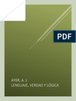Ayer, A. J. Lenguaje, Verdad y Lógica