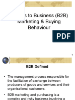 B2B Marketing & Buying Behavior