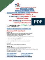 [2017-Jan-New]Braindump2go 70-533 PDF and 70-533 VCE and 70-533 Dumps 197q Offer(145-159)