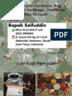 0812-3113-659 (T-sel) Kopi Rempah Surabaya, Kopi Rempah Di Surabaya, Distributor Kopi Rempah