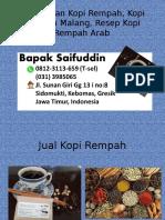 0812-3113-659 (T-sel) Kandungan Kopi Rempah, Kopi Rempah Malang, Resep Kopi Rempah Arab,