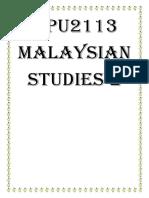 MPU2113 Pengajian Malaysia 2_Lecture Notes